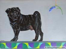 Pug bluebell commission